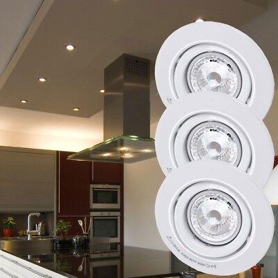 3er Set LED 6,5 W Deckenleuchten Einbaustrahler EEK A+ rund schwenkbar D 11 cm