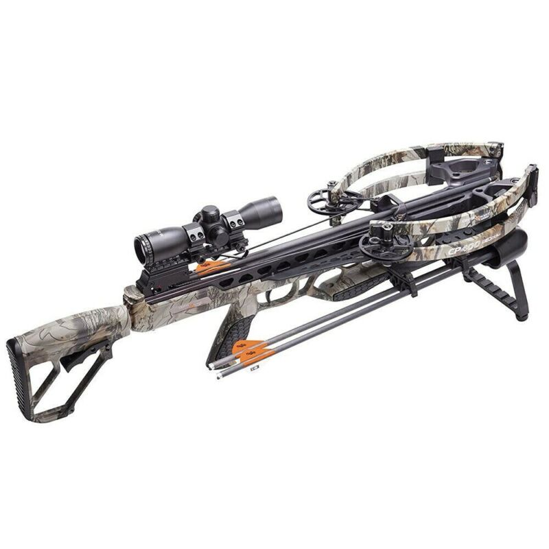 Centerpoint CP400 Crossbow Helicoil Tech Package w/ Carbon Arrows Quiver Scope