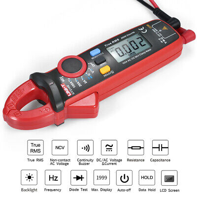 Uni-t Ut210e Mini Digital Clamp Multimeter True Rms Voltmeter Diode Tester H4z3