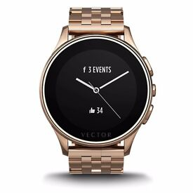 Vector Classic Luna Unisex Fit Smartwatch with Rose Gold Case