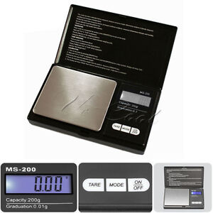 Electronic Pocket Scale 0.01g Weight 200 Gram Mini Digital Weighing Gold Jewelry
