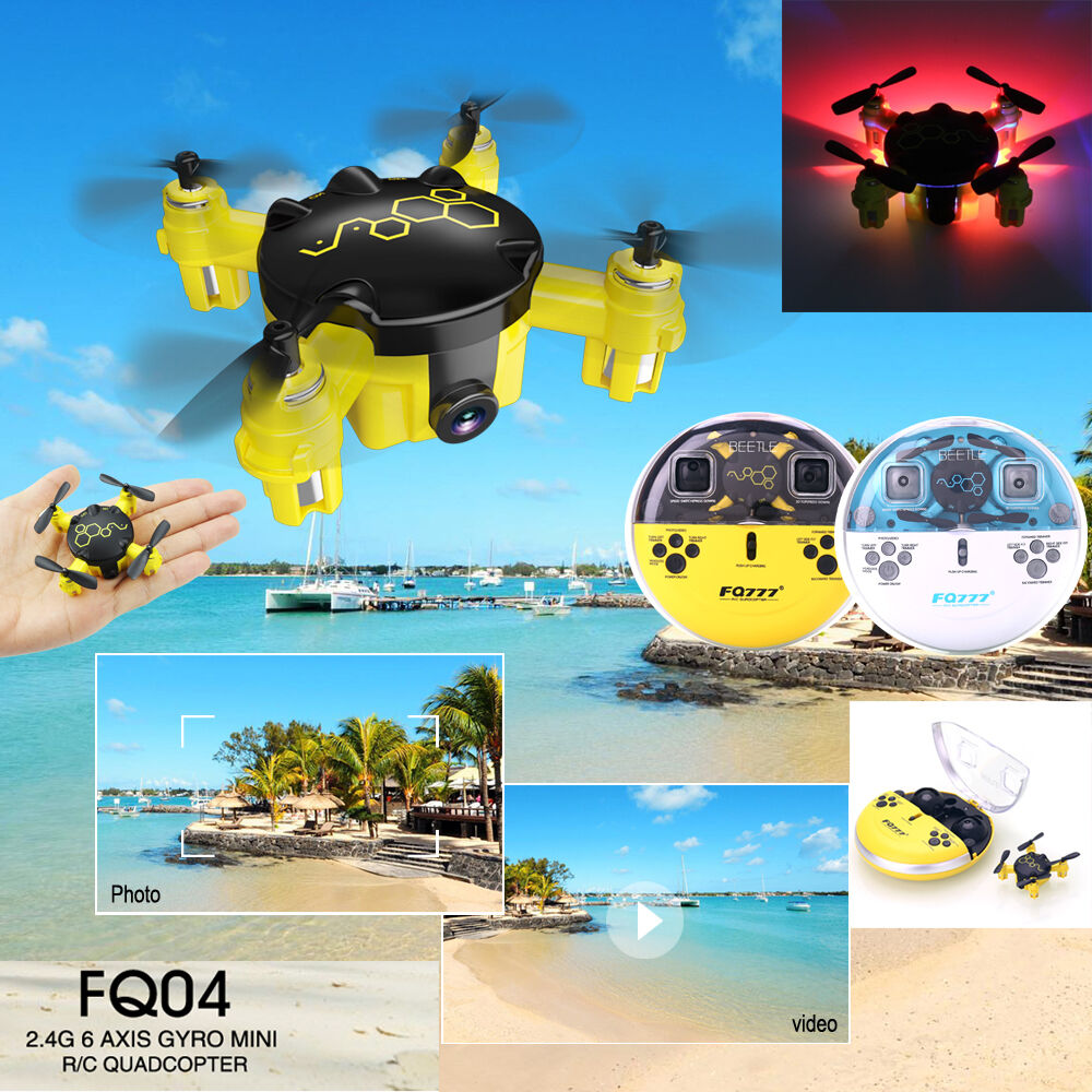 FQ777 FQ04 2.4G 4CH 6-Axis Gyro Mini RC Drone w/ 0.3MP HD Camera Quadcopter RTF