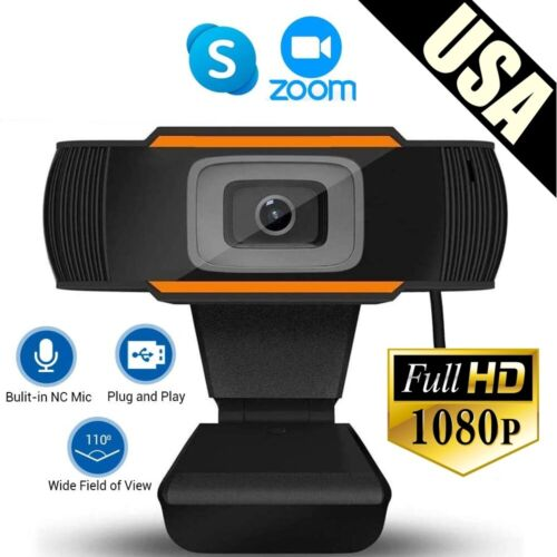 HD 1080p Conferece Webcam Web Camera Video Cam w/ Mic for PC/Mac Laptop Desktop