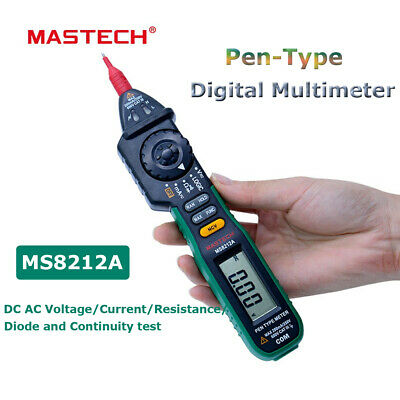 Ms8212a Pen Digital Multimeter Voltage Current Tester Diode Logic Non-contact