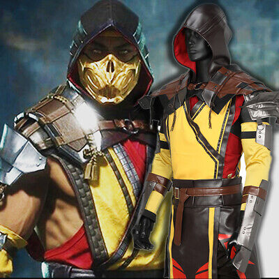 Mortal Kombat 11 Scorpion Cosplay Costume Mask MK 11 COOL Game Halloween Props - Mortal Kombat Halloween Costumes