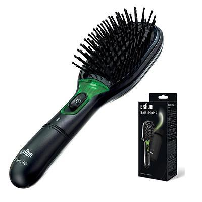 Braun BRN-BR710 Satin Hair 7 IONTEC Brush with Active Ions & Beat Static - Black