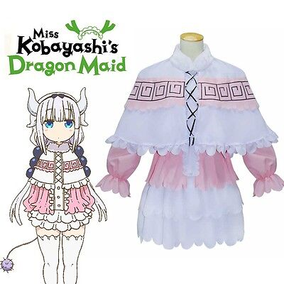 Women Miss Kobayashi's Dragon Maid Kanna Kamui Cosplay Costume Girl Lolita Dress (Dragon Girl Kostüme)
