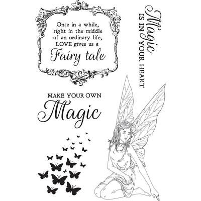 FAIRY GARDEN Collection Clear Unmounted Rubber Stamp Set Kaisercraft CS322 New ()