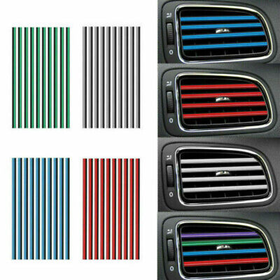 10X Molding Trim Car Outlet Vent Strip U Shape Grille Decor Air Conditioner UK
