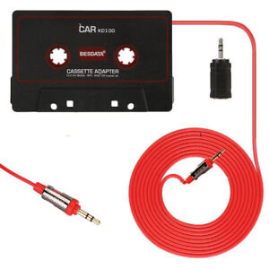 Car Audio Tape Cassette Music to Jack AUX for iPOD MP3 iPhone 3.5mm Connector UK