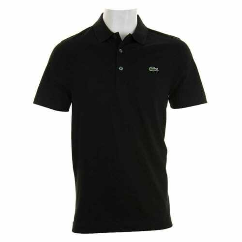 Lacoste Mens Polo Shirt Cotton Short Sleeve Classic Fit Pique Golf 3 Button NWT