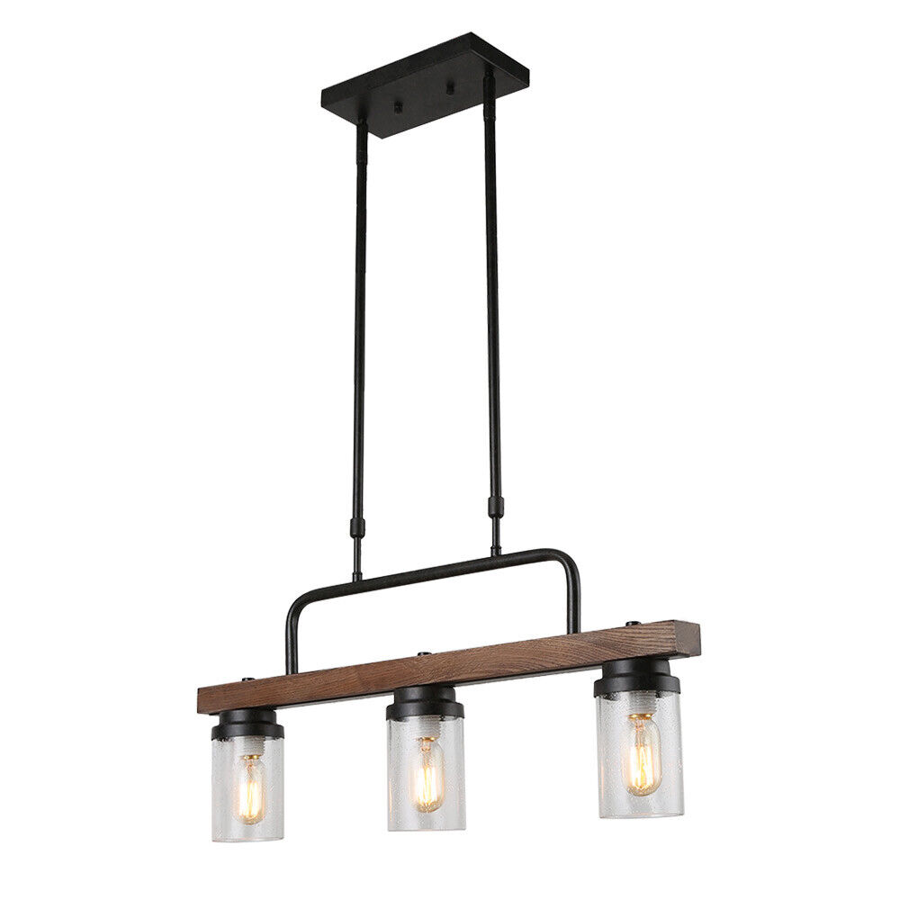 Kitchen Wood Pendant Lighting Rustic Chandelier Retro Ceiling Light Fixture Ebay
