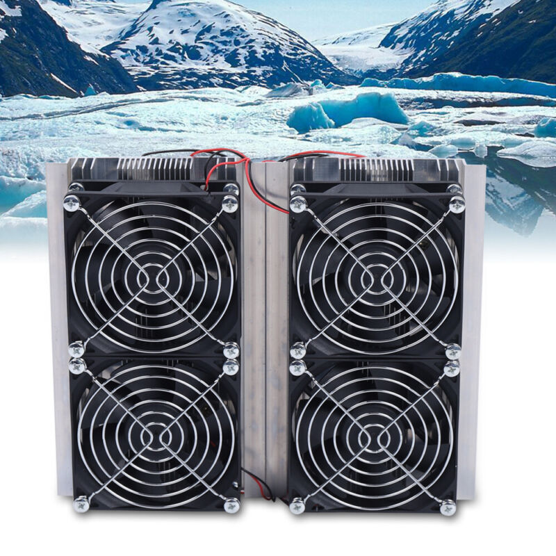 240W 12V Air Cooling Conditioner Four Fan Refrigeration Cooling System Device