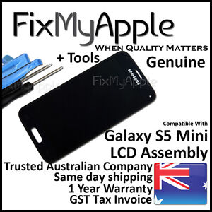 Samsung Galaxy S5 Mini OEM Black LCD Touch Screen Digitizer Assembly Replacement