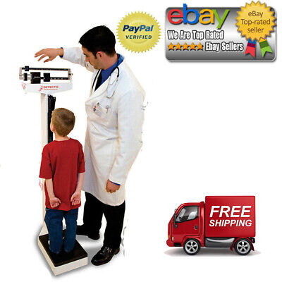 Detecto Physician Medical Body Weight Scale - 400 lb. Capacity with Height (Best Physician Scales)