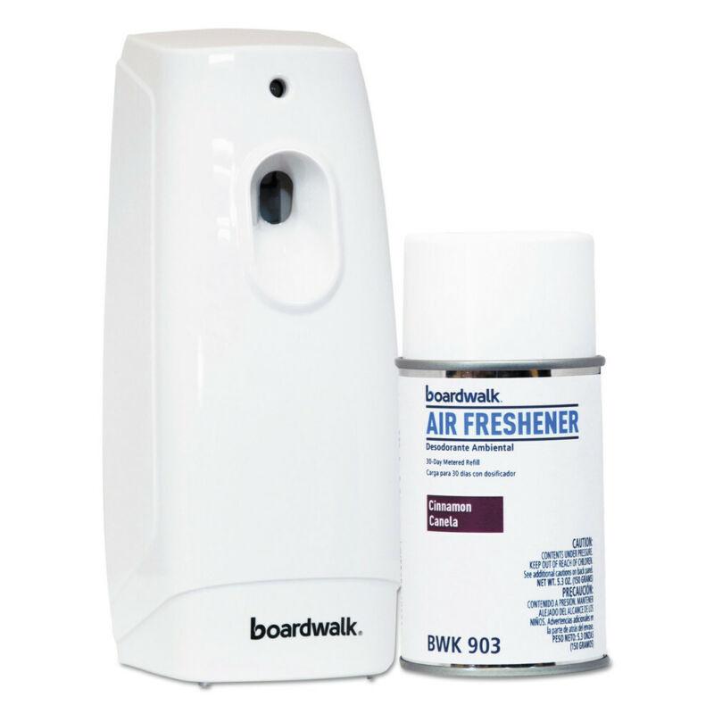 Boardwalk 907 Cinnamon Sunset 5.3 oz. Air Freshener DISP Kit - WHT New