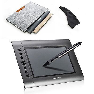 Kyпить Huion H610 Graphics Drawing Tablet Pro Art drawing+Glove+Wool Felt Liner Bag US на еВаy.соm