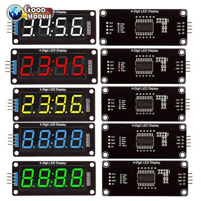 0.56 Inch Tm1637 4-bits Led Clock Tube Display Redbluegreenwhite For Arduino
