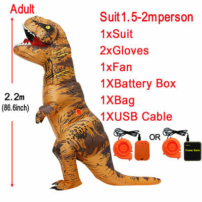 T Rex Kids Costume (11 Colors T-rex Dinosaur  Inflatable Costume Adult/Kids Jurassic Blow Up)