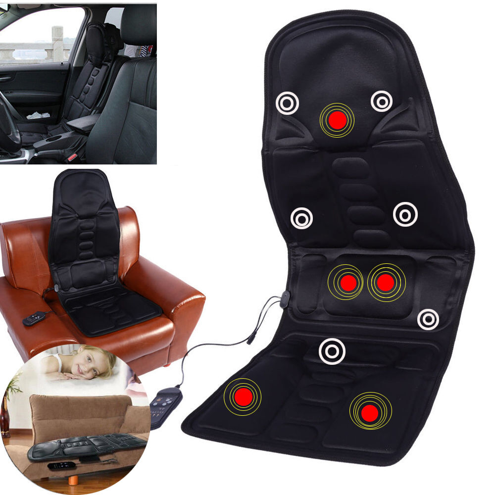heated back massage seat cushion car chair massager lumbar neck hip heat pad gw3 ebay. Black Bedroom Furniture Sets. Home Design Ideas