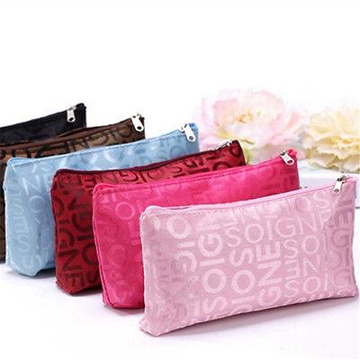 Mode Kosmetik (Frauen Portable Kosmetiktasche Mode Schönheit Reißverschluss Reise Bilden Tasche)
