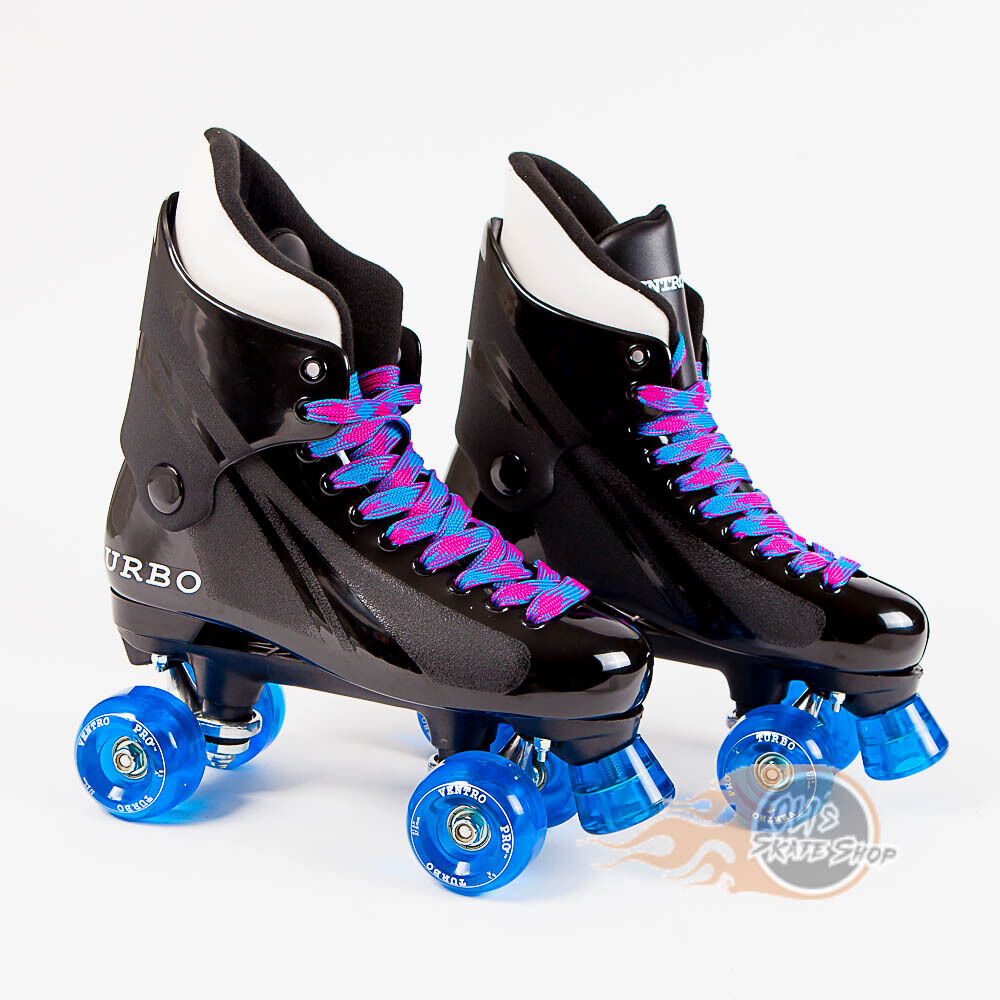 Ventro Pro Turbo Quad Roller Skates, Bauer Style - Blue Pink