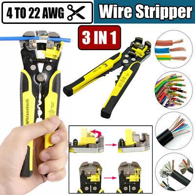 Automatic Adjust Wire Striper Cutter Stripper Plier Cable Crimper Terminal Tool