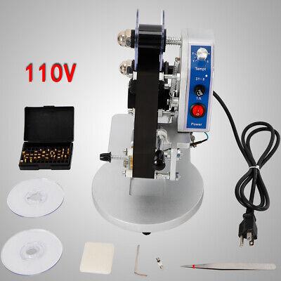 1-3 Row Manual Hot Foil Ribbon Stamping Machine Thermal Ribbon Date Code Printer