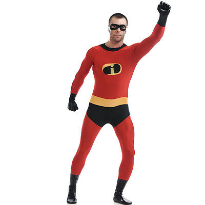 Mr Incredibles Costume (The Incredibles Costume Mr. Incredible Bob Parr Cosplay Zentai Full Body)