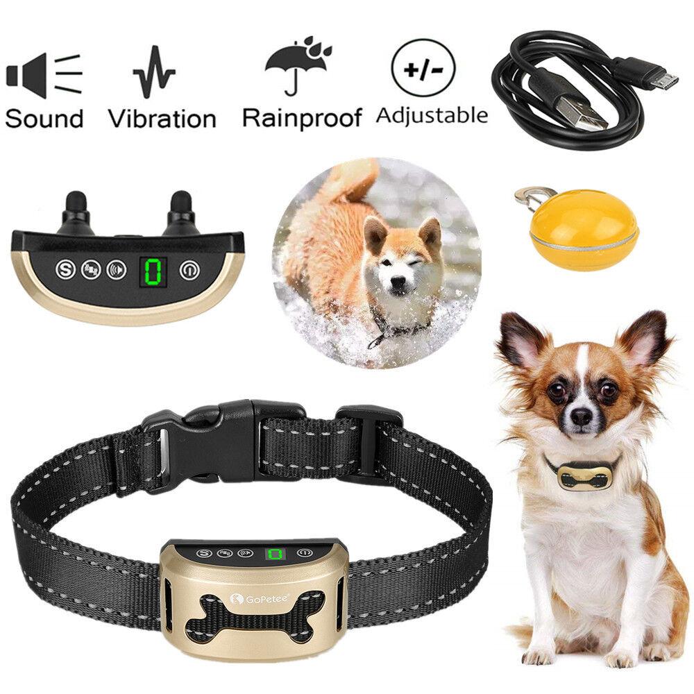 Antibell Hundehalsband Erziehungshalsband Ton & Vibration KEINE ELEKTROSCHOCKS
