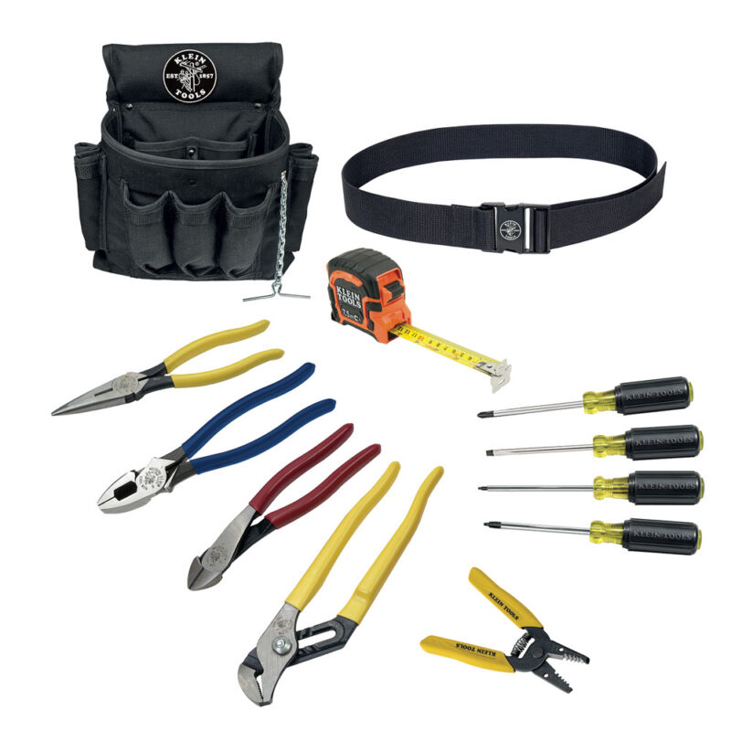 NEW KLEiN TOOLS 92003 12 Piece Electrician Tool Set