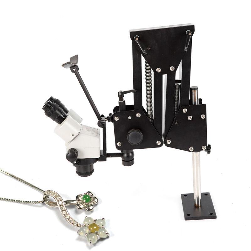 Binocular Microscope With Stand Micro Inlaid Multi-directional Jewelry Tools USA