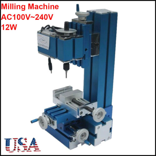 100V~240V Mini Milling Machine DIY Woodworking Metal Aluminum Processing Tool US