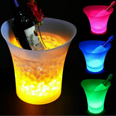 7 Farbwechsel 5L Wein LED Eiskübel Party Champagner Getränke Bar Kühler Geschenk