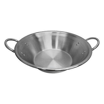 "22""W x 7-1/2'' Depth Carnitas Cazo Stainless Steel Caso Pot Pan Wok Gas Stove"