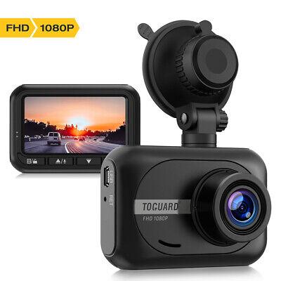 "Dash Cam TOGUARD Mini Dash Cam 1080P Full HD Car Camera 2.45"" 170° Wide Angle US"