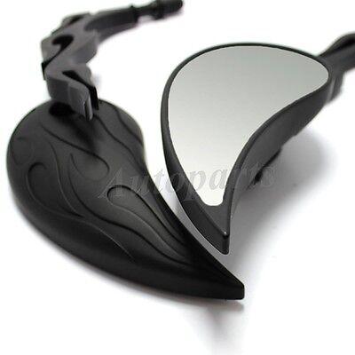 Black Motorcycle Mirrors - Billet Stem - For Harley Davidson FLHX Street Glide Harley Davidson Billet