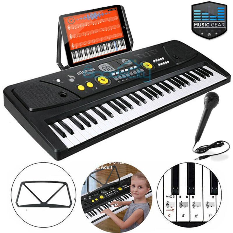 61 Key Music Digital Electronic Keyboard Electric Piano Organ Beginner + Stand
