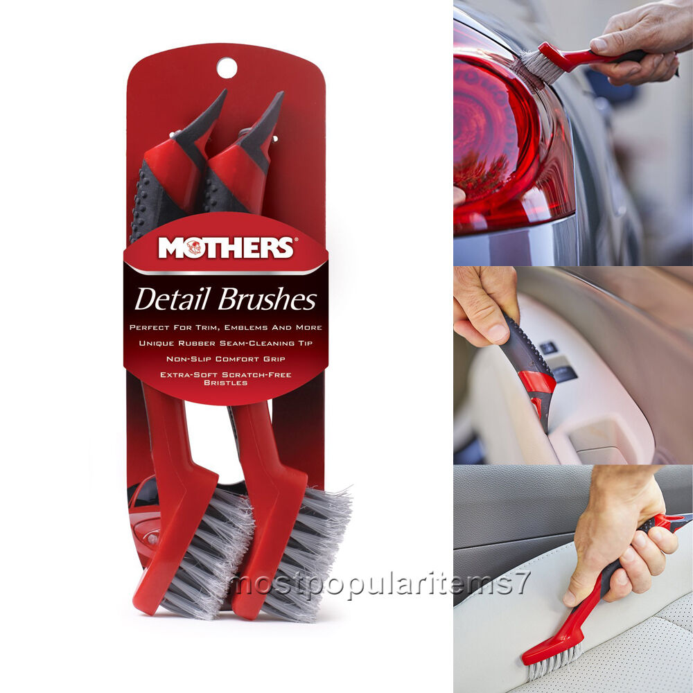 car interior detailing cleaning brushes set with long handle wheel wash kit new for sale in us. Black Bedroom Furniture Sets. Home Design Ideas