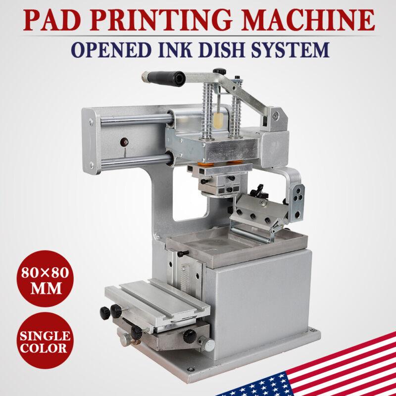 Manual Pad Printer with Opened Ink Dish System Pad Printing Machine 80*80mm US