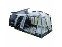 Awning -Khyam Motordome Classic Quick Erect Awning with clip in ground sheet and NITElight LED strip