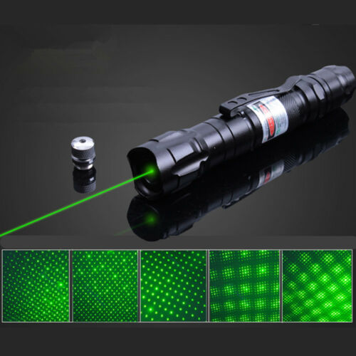 10Miles Military 5mw Green Laser Pointer Pen Light 532nm Visible Beam Burn Zoom