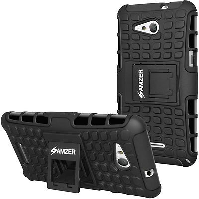 Amzer Lot Of 50 Hybrid Rugged Warrior Case Cover With Sta...