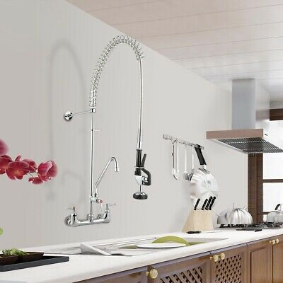 Aquaterior Commercial Pre-rinse Faucet W 12 Add-on Faucet Dishwasher Cupc Nsf