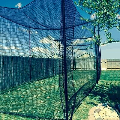 10' X 10' X 60' Batting Cage Net (#36), Rope Edges, NEW