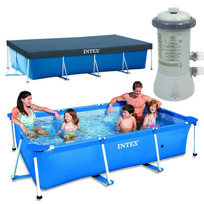 INTEX Family Swimming Pool Frame 300x200x75cm + Poolpum