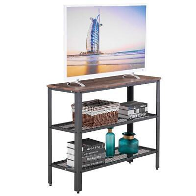 3-Tier Industrial Rustic Entryway Table Console Table Side Table Storage Shelf 5