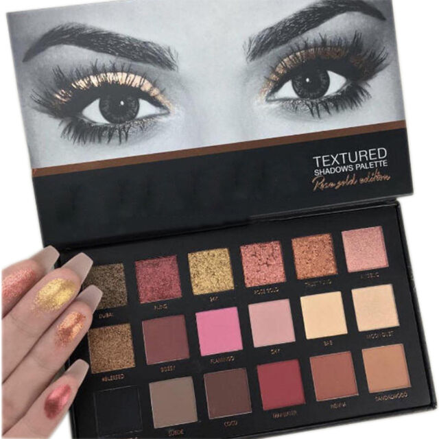 Rose Gold Textured Eyeshadow 18 Colors Matte Eyeshadow Palette
