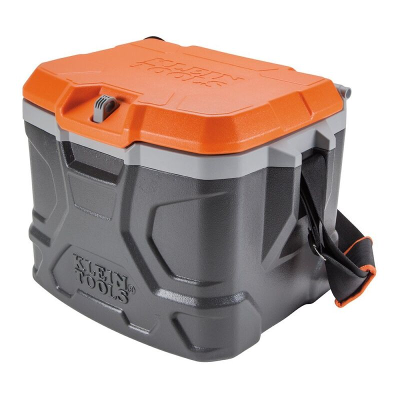 Klein Tools Work Cooler 17-Quart, Keeps Cool 30 Hours Seats 300 pounds,Tough Box