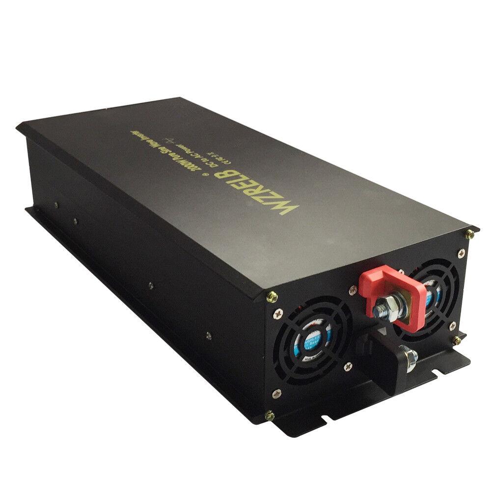 2000W Pure Sine Wave Power Inverter Solar 12V/24V DC to 120V